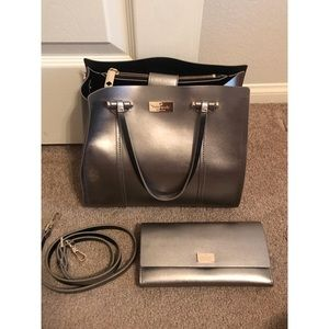 kate spade Bags - Kate Spade Metallic Set Purse with Matching Wallet